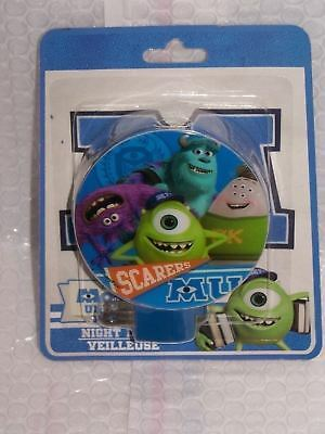 Disney Monsters *University Night Light - Same Day FREE Shipping - Sealed NEW