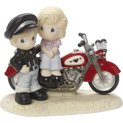 You're My Road To Happiness Precious Moments Figurine Motorcycle Couple NWOB