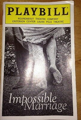 Impossible Marriage Playbill October 1998 Holly Hunter Beth Henley
