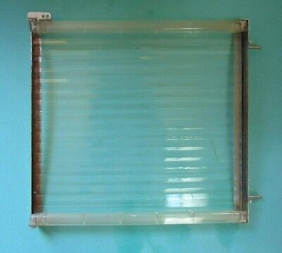 "Vintage Ribbed Glass Refrigerator Shelf 11 9/16"" x 12 5/8"" Fridge w Ridges"