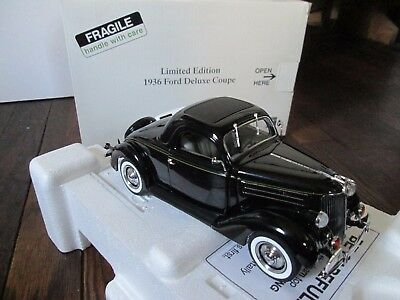 Danbury Mint 1936 Ford Deluxe Coupe Limited Ed. Classic Car Model NEW IN BOX