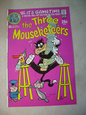 THREE MOUSEKETEERS #5 COVER ART, original approval cover proof 1970'S PINK