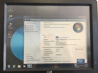 Hp AP5000 POS 2.8 GHz intel Core2Duo 3GB 500GB HHD WINDOWS 7-64BIT FULLY TETSED