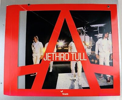 """Jethro Tull 1980 A Album Hanging In-Store 22""""x18"""" Poster Chrysalis Records Rare"""