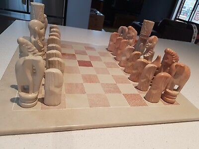 Chess Set  - Marble soap stone - King height 11 cm