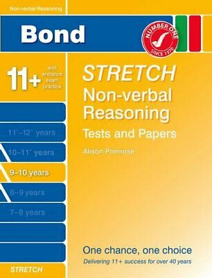 Bond Stretch Non-Verbal Reasoning Tests and Papers 9-10 years by Karen Morrison