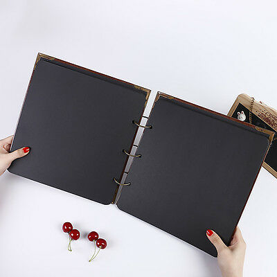 REFILL ONLY FOR - 26 x 25cm DIY PU Leather Vintage Heart Kraft Paper Photo Album