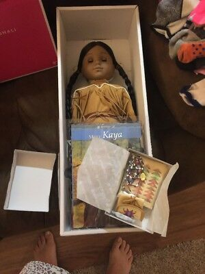 NIB AMERICAN GIRL Collection PLEASANT COMPANY 2002 DOLL KAYA With Accessories