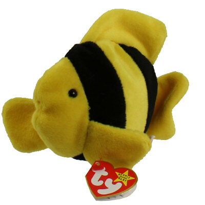 TY Beanie Baby - BUBBLES the fish (4th Gen hang tag) (6 inch) MWMT's Stuffed Toy