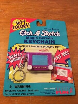 Etch-A-Sketch-World's Favorite Drawing Toy - Mini Keychain Purple New
