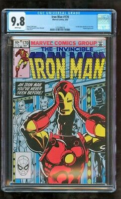 Cgc 9.8 Iron Man #170 Marvel Comics 5/1983 1St Full James Rhodes As Iron Man Wow