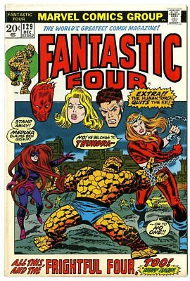 Fantastic Four #129 VF+ 8.5  vs. The Frightful Four  Marvel  1972  No Reserve