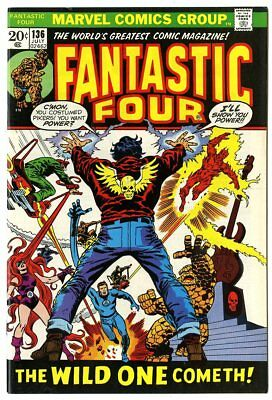 Fantastic Four #136 NM- 9.2  vs. The Wild One  Marvel  1973  No Reserve