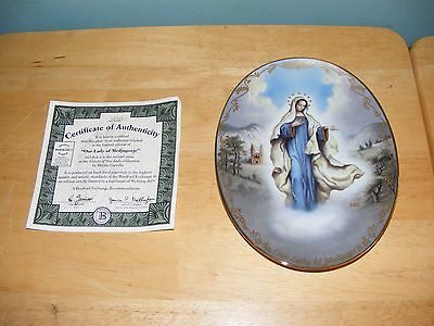Bradford Exchange VISIONS OF OUR LADY SECOND ISSUE LADY OF MEDJUGORJE WALL PLATE