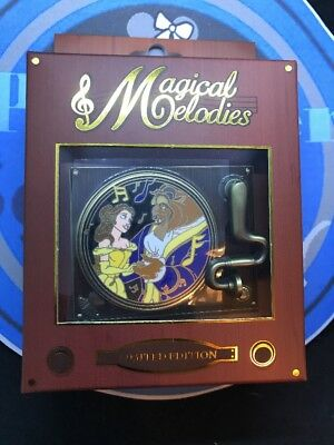 Disney Magical Melodies Beauty and the Beast LE 1500 WDW Quarterly Pin New