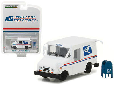 USPS Postal Service Delivery Van Diecast LLV 1:64 Greenlight 3 inch w Mail box