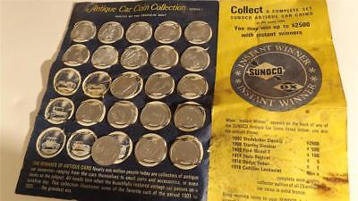 Vintage Sunoco Antique Car Coin Collection Barn Find Series 1