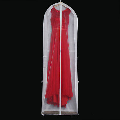 Handed Long Garment Cover Bridal Wedding Dresses Storage Bag Dust-proof Pouch