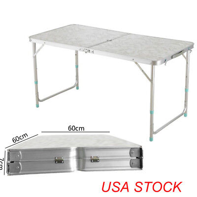 4' Folding Table Portable Plastic Indoor Outdoor Picnic Party Dining Camp NEW