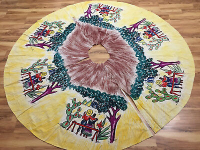 Amazing Vintage 1950's Hand Painted Cotton Mexican Circle Skirt Project