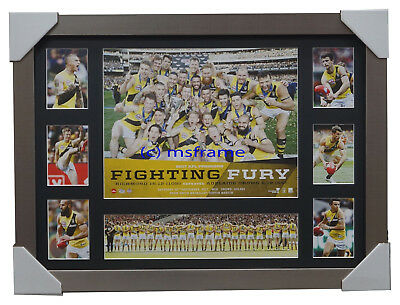 Richmond Deluxe AFL Official Print Silver Frame 2017 Premiers Cotchin Martin