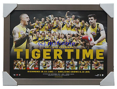 Richmond Tigers 2017 AFL Premiers Official Print Silver Frame MARTIN - TIGERTIME