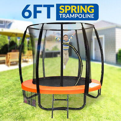 New 6ft Trampoline Free Ladder Spring Mat Net Safety Pad Cover Round Enclosure