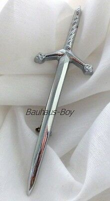Kilt Pin Scottish Claymore Simplistic Chrome Finish Highlandwear Kiltwear Kilts