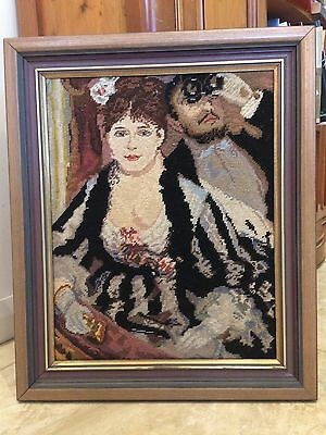 TIMBER FRAMED EMBROIDERY AFTER RENOIR THE THEATRE BOX 49x59cmm