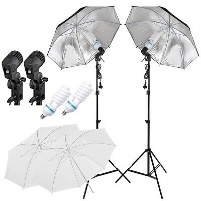 Photography Umbrella Continuous Light Photo Video Lighting Stand Shooting Kit