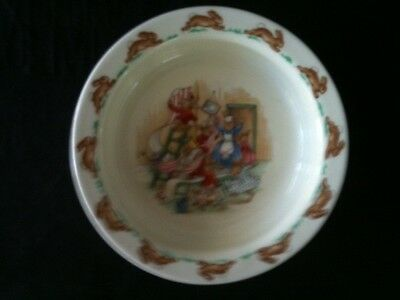 "Vintage Bunnykins 6 1/8"" Diameter Decorating Hanging Wallpaper Bowl"