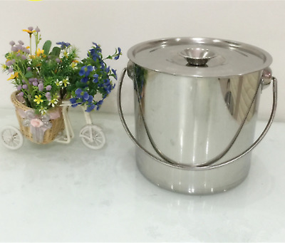 No Magnetic Stainless Steel Milk Pail Milk Bucket Milk Container With Lid Handle