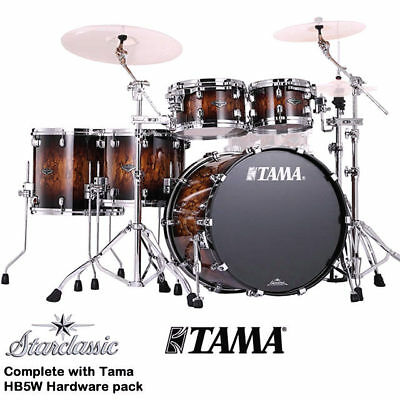 Tama Starclassic B/B 5Pce Drum Kit with HB5W Hardware Pack Molten Brown Burst
