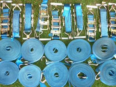 10 x 10m 5 ton ratchet strap sets spansets conformity tagged in superb condition