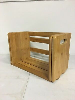 Bamboo Wood Expanding Book Rack by STOW GREEN