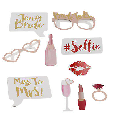 10pcs Hen Party Photo Booth Props Team Bride Wedding Game Party Accessories Gift