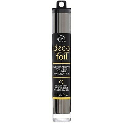 "Deco Foil Specialty Transfer Sheets 6""X12"" 5/Pkg - Pewter"
