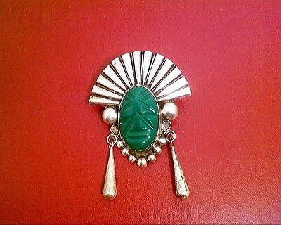 Vintage Sterling Silver Plata Mexican Brooch