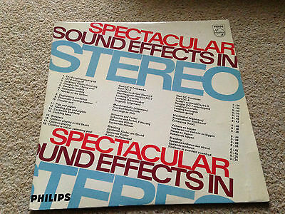 spectacular sound effects in stereo vinyl LP