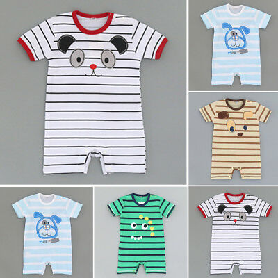 Newborn Toddler Baby Boys Girls Summer Clothes Romper Jumpsuit Bodysuit Outfits
