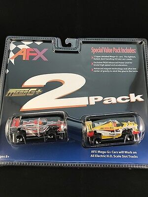 Afx Mega G Plus 2 Pack F1 / Indy Cars Twin Pack Tomy Aurora Special Value Pack