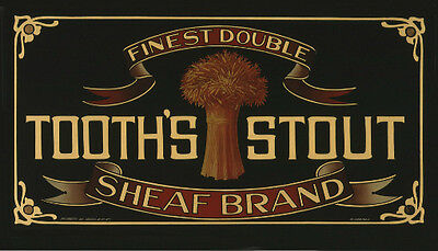 Tooth's Stout Sheaf Brand photoposter 325x570mm beer bar home