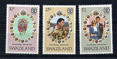 Swaziland 1981 Royal Wedding Set Of All 3 Commemorative Stamps Mnh