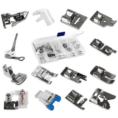 14pcs Domestic Sewing Machine Metal Presser Foot for Brother Singer Janome