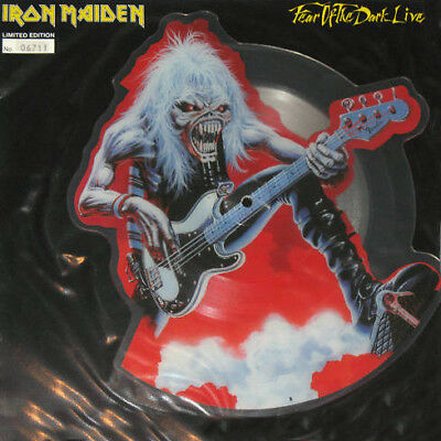 """Iron Maiden - 12"""" Numbered Shaped Pic Disc.(8161) - Fear Of The Dark (Live)1993"""