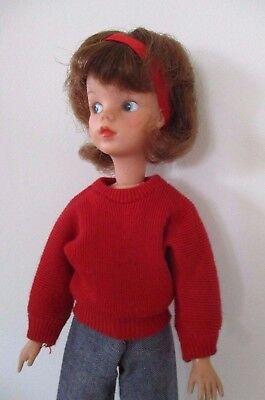 Vintage 1960s First issue MIE Auburn Sindy with very pretty all original make up