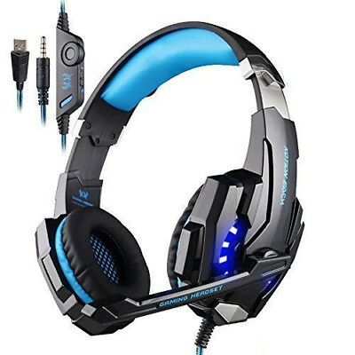 Gaming Headset with Mic for PC,PS4,Xbox One LED Light KOTION EACH G9000 Deep Bas