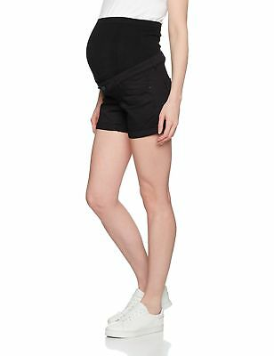 Mamalicious Women's Mlalbe Maternity Shorts Black (Black Denim)