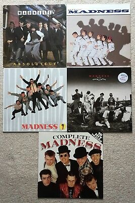 MADNESS RECORD COLLECTION - 5 x LP's - UTTER MADNESS, ABSOLUTELY, RISE & FALL