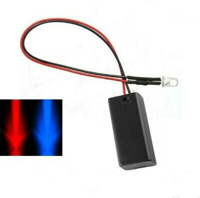 Flashing Red/Blue 3mm LED & Battery Box
